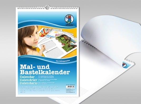 URSUS Mal- und Bastelkalender DIN A4 - Kalender zum Selbstgestalten   Bejol Bastelshop