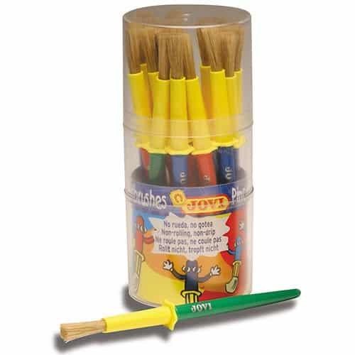 Kinderpinsel Set 20 Stück - dicker Kinder Pinsel mit Tropfschutz | Bejol Bastelshop