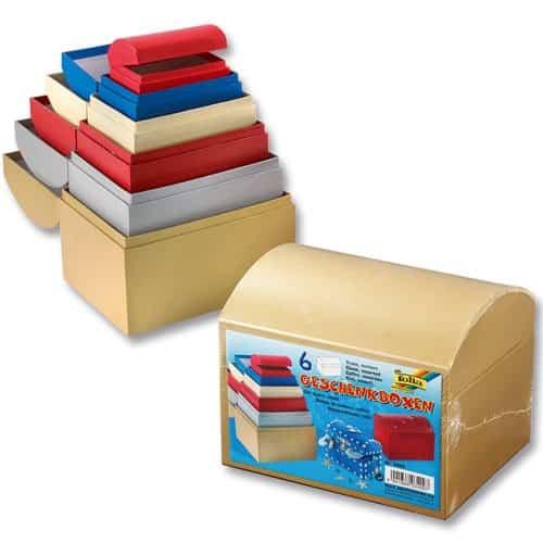 Geschenkbox Basteln 6er Pack zum Sortieren Stülpdeckelkarton für A4 weiß