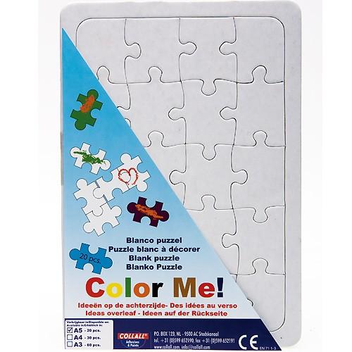 Blanko Puzzle A5 mit Legerahmen zum selbst bemalen, 20 Teile   Bejol Bastelshop