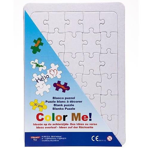 Blanko Puzzle A4 mit Rahmen / Legerahmen zum selbst bemalen, 30 Teile | Bejol Bastelshop