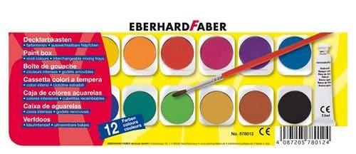 Tuschkasten - Farbkasten Eberhard Faber - EFA Deckfarbkasten mit 12 Farben | Bejol Bastelshop