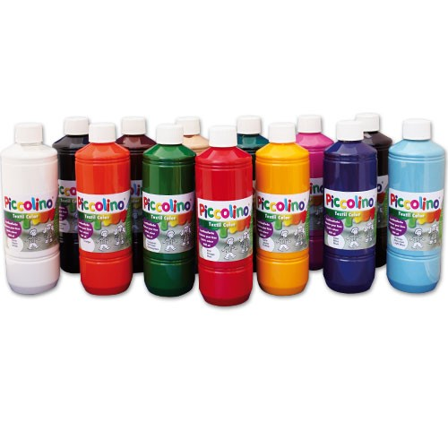 Stoffmalfarben Set 13x500ml - Textilfarben Piccolino zum Malen & Pinseln | Bejol Bastelshop