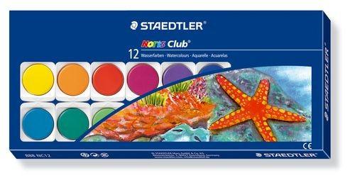 Farbkasten Staedtler 888 NC12 - Wasserfarbe Noris Club, 12 Farben | Bejol Bastelshop