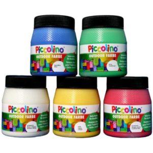 Piccolino Outdoor Farbe - Die Bastelfarbe für draußen
