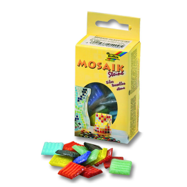 Mosaik-Glassteine 20x20mm, 350 Stück, 1000 g, in 10 Farben sortiert | Bejol Bastelshop