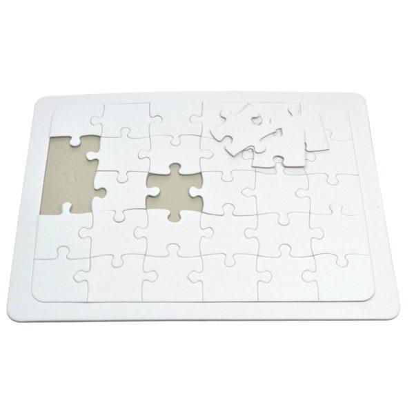 Blanko Puzzle A4 mit Rahmen zum selber bemalen, 30 große Teile | Bejol Bastelshop