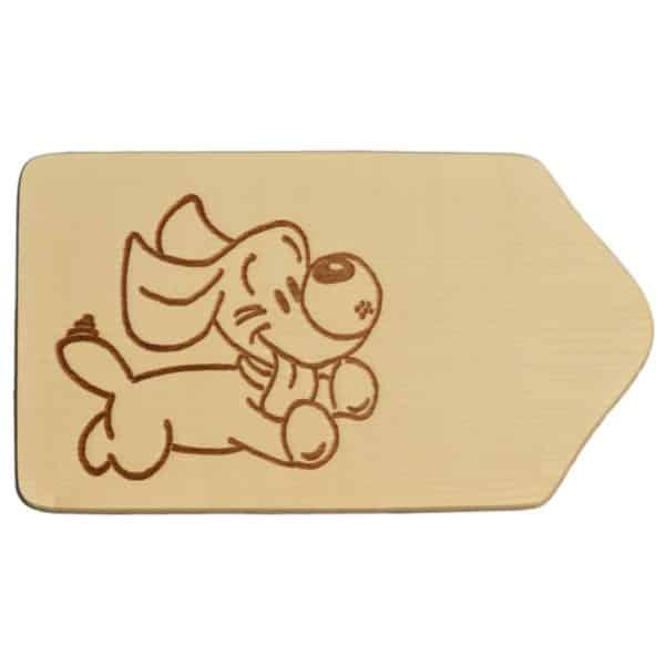 Frühstücksbrettchen Holz mit Gravur - Motiv Hund - zum Selbstgestalten & Bemalen   Bejol Bastelshop