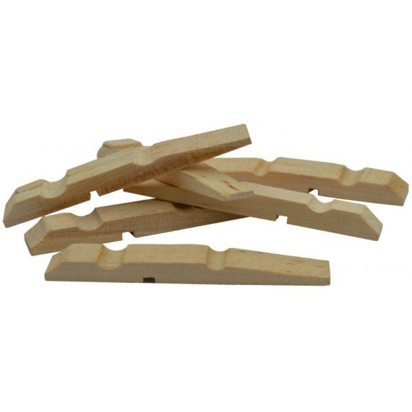 Halbe Wäscheklammern Holz 73mm 100 Stk - Wäscheklammern Hälften zum Basteln | Bejol Bastelshop