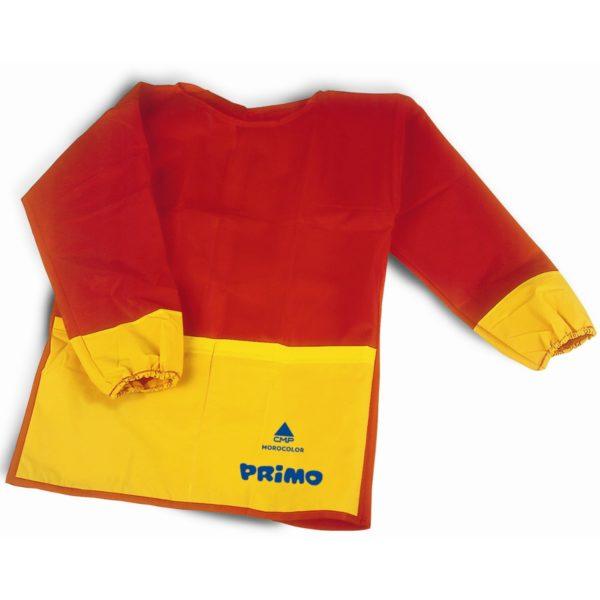 Kinder Malschürze Malkittel langärmelig, rot/gelb, Universalgröße 3-8 Jahre | Bejol Bastelshop
