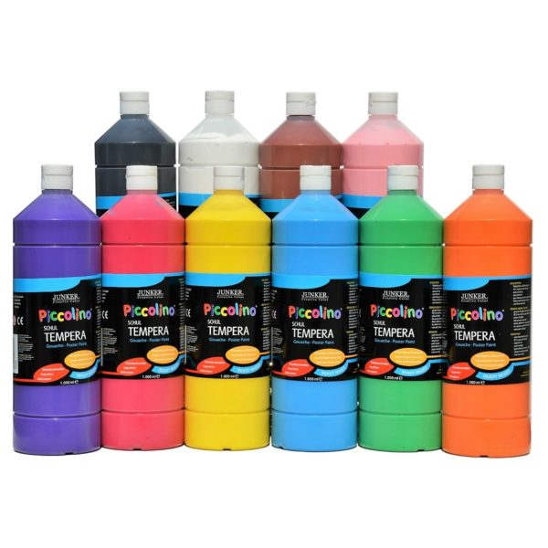 Piccolino Ready Mix Schultempera Farben Set 10x1000 ml | Bejol Bastelshop
