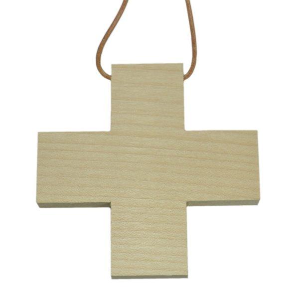 Holzkreuz blanko - Umhängekreuz zum Bemalen Gestalten Basteln 9cm   Bejol Bastelshop