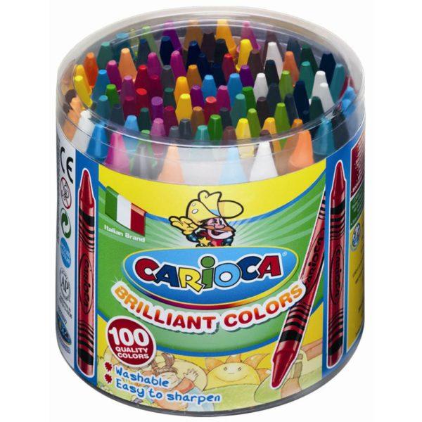100 Wachsmalstifte Ø 8mm - 30 Farben - Wachsmaler für Kinder, auswaschbar ~ Bejol Bastelshop
