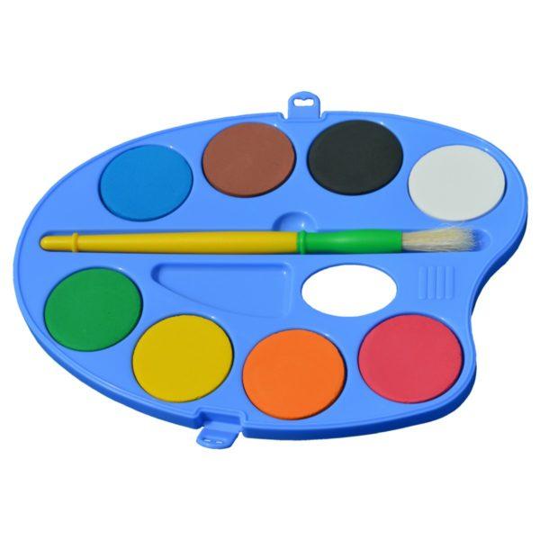 Wasserfarbkasten Farbmischpalette 8 Farben 40mm - Piccolino Vorschul-Malkasten | Bejol Bastelshop