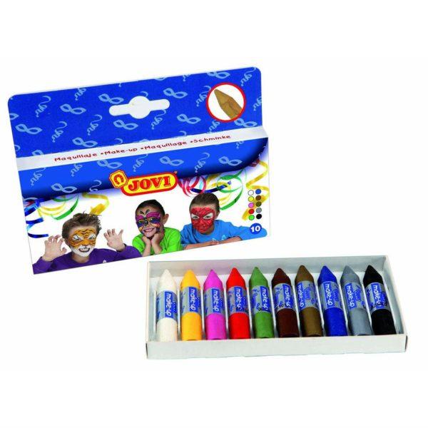 Schminkstifte Set - 10 Farben - Kinder Schminke Karneval Fasching Halloween | Bejol Bastelshop