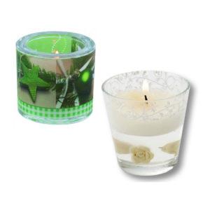 Kerzen und Kerzenhalter