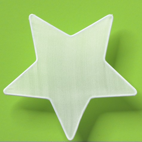 Seiden-Fensterbild Stern Ø18cm, Seide naturweiß für Seidenmalerei, Pongé 08 | Bejol Bastelshop